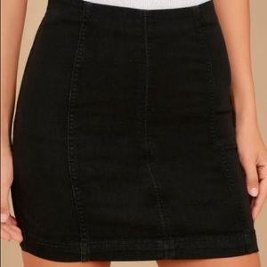 Black Free People Denim Skirt